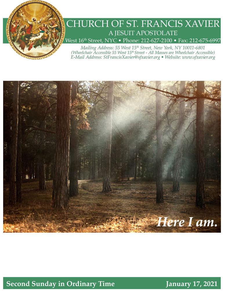 Bulletin Cover January 17, 2021