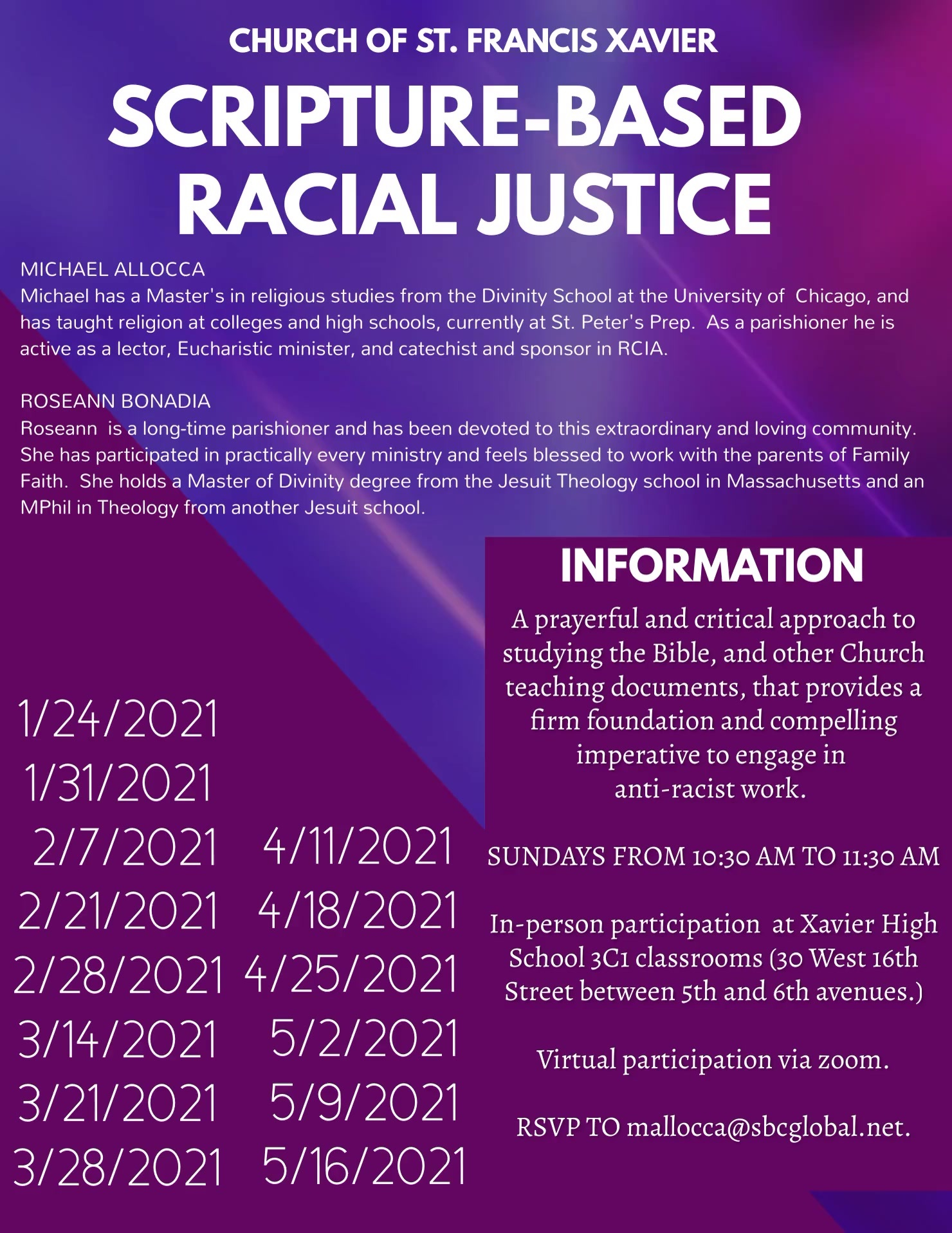 scripture-based racial justice flyer