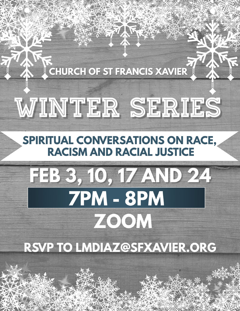 Spiritual Conversations on race, racism and racial justice poster