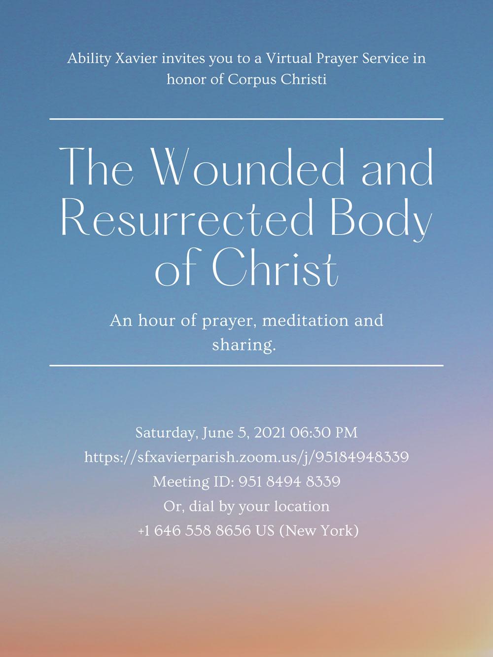 Virtual Prayer Flyer