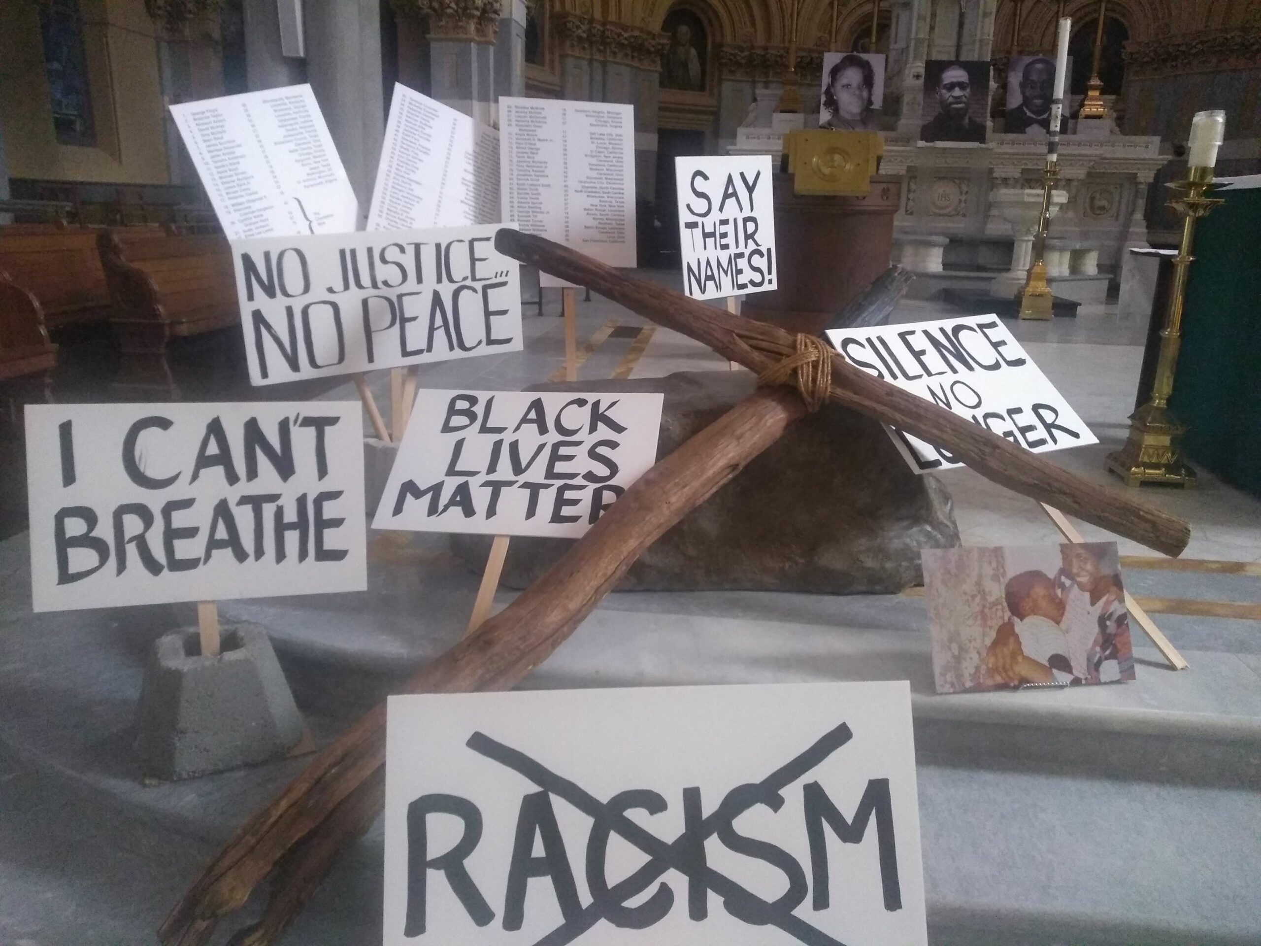 Photo of Racial Justice Signs