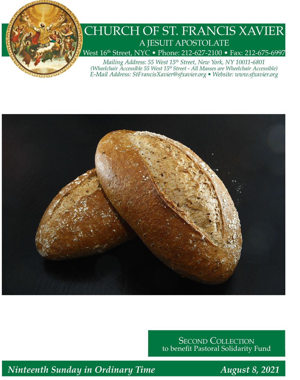 Bulletin Cover August 8, 2021